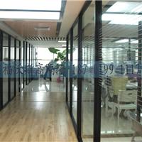 供应铝合金框架 双面玻璃隔断/成品玻璃隔断