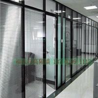 供应双层钢化玻璃内置百叶帘隔断办公高隔断