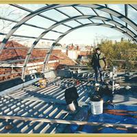 大连拱形钢结构弧形结构建筑圆顶钢结构建筑