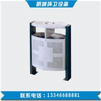 河北厂家钢木垃圾桶 环卫钢木垃圾桶-明城