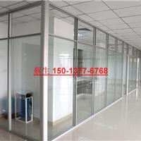 深圳办公室玻璃加百叶窗隔墙隔间