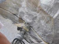 免爆破钾长石大块开采二次分解液压破石设备