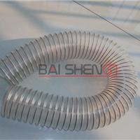 供应宁夏兰州新疆PU耐温耐磨透明钢丝伸缩管