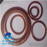 供应耐高温紫铜陶瓷纤维包覆垫片