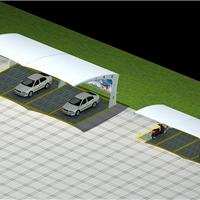 供应膜结构车棚自行车棚加工制作安装