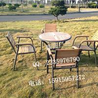 三亚铝木桌椅 西餐厅咖啡厅桌椅