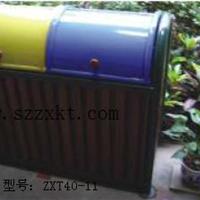 供应双胆分类垃圾桶供应商 钢木垃圾桶结构