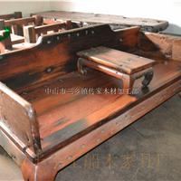 供应传家家具厂 仿古船木罗汉床 床类