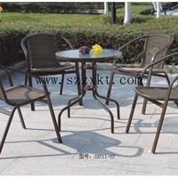 供应铁艺镂空配套户外套桌椅 一桌四椅