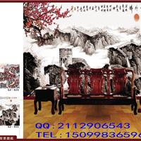 供应大型餐厅背景墙壁画墙纸厂家直售