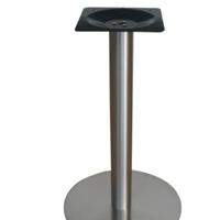 餐厅圆形不锈钢桌脚 餐桌不锈钢圆盘脚