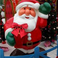 供应圣诞节泡沫雕塑圣诞老人雕塑节庆雕塑
