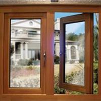 天津铝木复合门窗,铝木门窗木包铝门窗图片