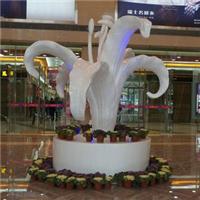 花朵雕塑,玻璃钢花朵雕塑,美陈道具厂家