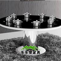 供应钢化玻璃火锅餐桌 火锅桌椅厂家