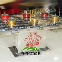 供应钢化玻璃火锅桌 自助餐厅高端桌椅厂家