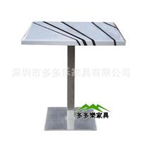 供应大理石餐厅桌椅  玻璃火锅专用桌厂家