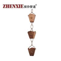 北京纯铜雨水链,别墅/四合院排水雨水链