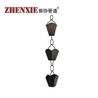 供应北京纯铜雨水链,别墅装饰铜雨水链