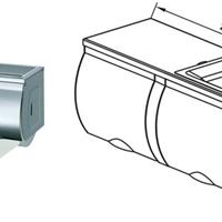 供应双排不锈钢卷纸箱不锈钢洗手间卷纸盒
