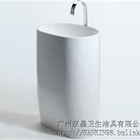 汉晶卫浴厂家直销人造石柱盆广州