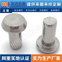 供应GB/T868平锥头实心铆钉、半空心铆钉