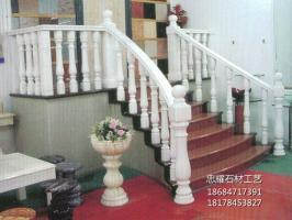 广西白栏杆花岗岩大理石石雕罗马柱帽柱