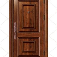 供应厂家新款不锈钢木纹转印防盗门FB-6601
