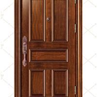 供应厂家新款不锈钢木纹转印防盗门FB-6603