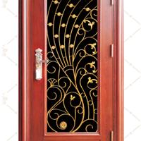 供应厂家2014新款木纹系列不锈钢转印防盗门