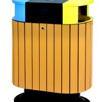 肇庆广宁怀集封开高要四会塑木分类垃圾桶