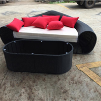 供应休闲吊椅钢化玻璃编藤茶几沙发