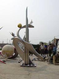 北京雕塑公司,加工北京不锈钢雕塑产品,美陈