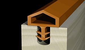 批发卡槽式密封条/U型条/PVC装饰条