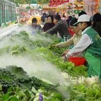 供应超市果蔬喷雾降温加湿保鲜设备
