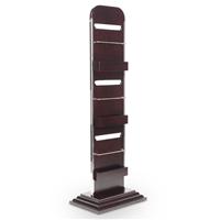 木质资料架 立式不锈钢资料展示架 杂志架