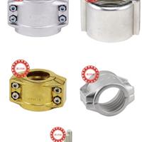 供应铝合金EN14420-3软管管夹抱箍