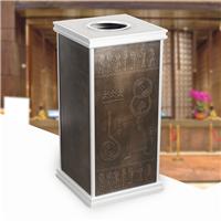2014新款仿古铜版面垃圾桶 厂家定制垃圾桶