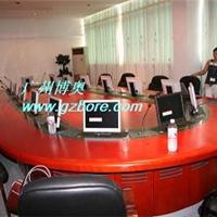 供应椭圆形液晶屏显示器升降会议桌