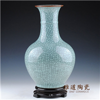 供应批发陶瓷花瓶 中国红花瓶价格