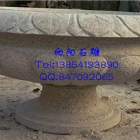 德州石雕花盆花钵|黄锈石花盆|大理石花钵