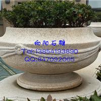 寿光石雕花盆花钵|黄锈石花盆|大理石花钵