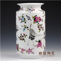 供应婚庆礼品花瓶 中国红花瓶 景德镇花瓶