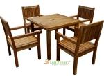 供应 户外实木桌椅 庭院实木家具订制