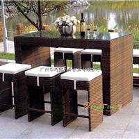 广州 外贸户外编藤桌椅 一桌六椅 编藤家具