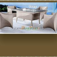 供应咖啡厅藤编桌椅户外家具