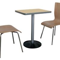 供应广州餐桌椅 不锈钢 快餐店桌椅