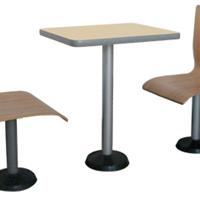 供应广州快餐桌椅 不锈钢餐桌 快餐店桌椅