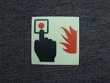 夜光PVC灭火器牌灭火器指示牌消防警示标识