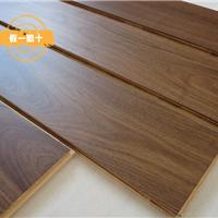 供应黑胡桃实木地板 多层复合地板价格